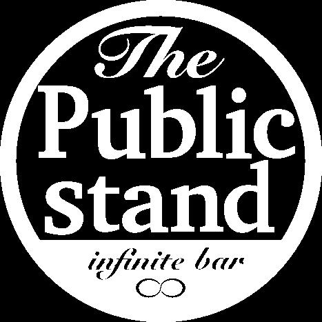 Public stand logo white